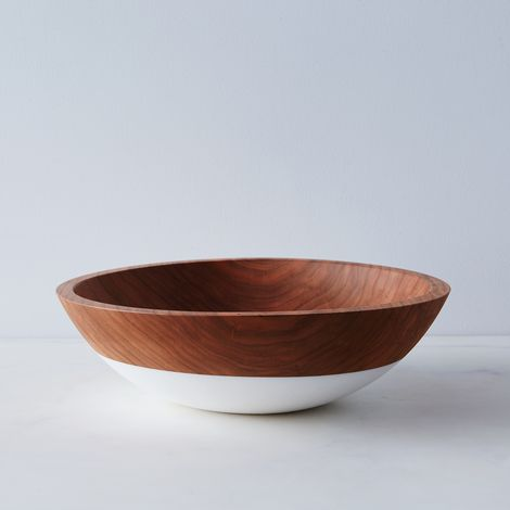 "Hand-Dipped Cherry Wood Bowl (12"")"