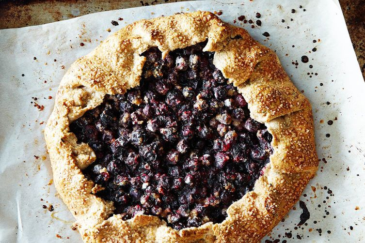 Blueberry Galette with Rosemary Crust on Food52