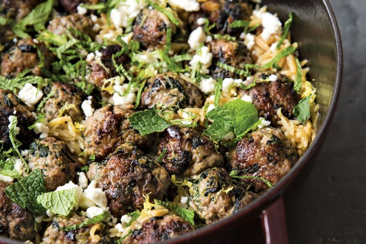 Lamb meatballs with spinach and orzo recipe on food52 lamb meatballs with spinach and orzo forumfinder Choice Image
