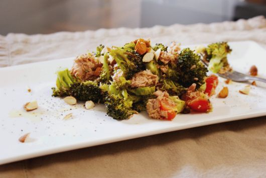 Roasted Broccoli Tuna Salad