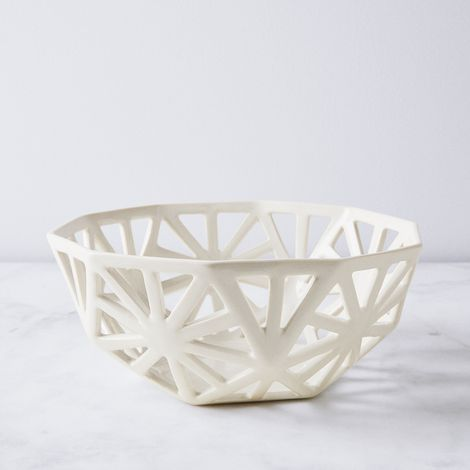 Geodesic Porcelain Fruit Bowl
