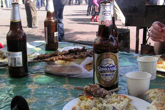 Uighur Lamb Kebobs and Pulao