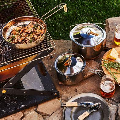 Campfire Stainless 5-Piece Camp Cookware Set