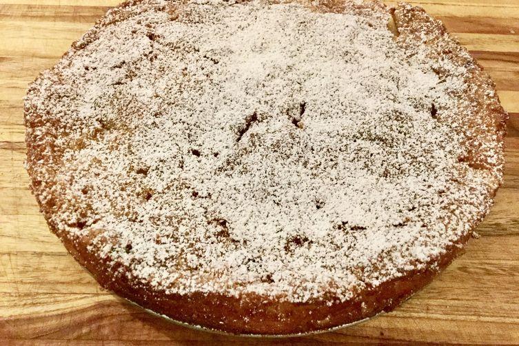 Apple Custard Cake
