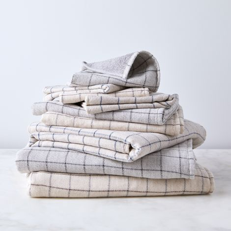 Graph Cotton Japanese Bath Towels