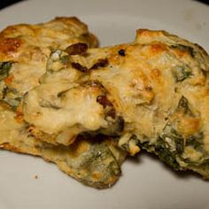 Cheezy Scones with Bacon and Ramps