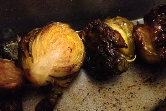 Braised Brussels Sprouts with Balsamic Vinegar and Soy Sauce