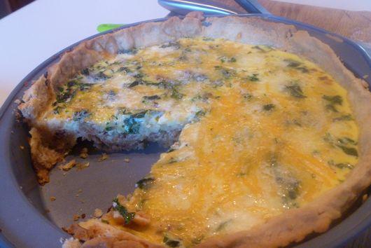 Parsnip + Kale Quiche avec Bacon