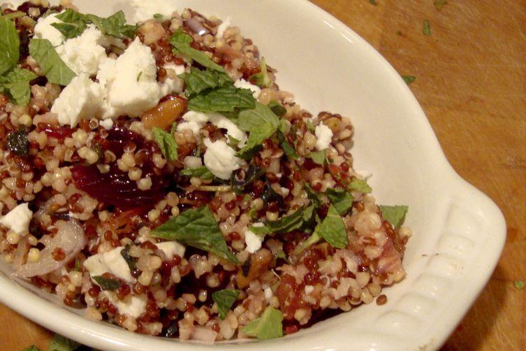 Quinoa Salad with Feta, Blood Oranges and Mint