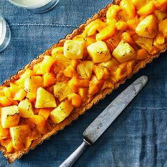 Roasted Pineapple-Mango Tart
