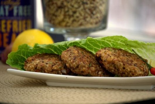 Refried Beans & Quinoa Burger Patties