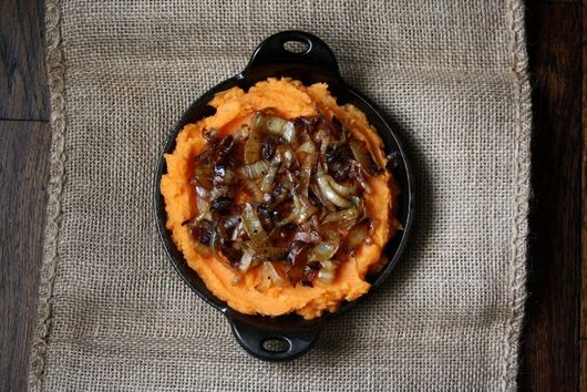 Semi Sweet Potato Mash with Caramelized Onions