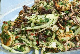 Yotam Ottolenghi's Seafood, Fennel, and Lime Salad