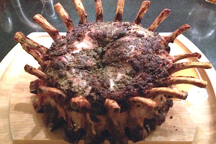 Crown Roast of Pork with Fennel, Lemon and Garlic Recipe ...