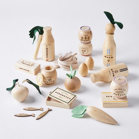 Wooden Play Food Toy Sets