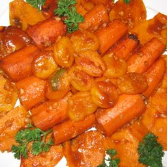 Vegetarian Syrian Style Stuffed Carrots ( Mehshi Jazzar)