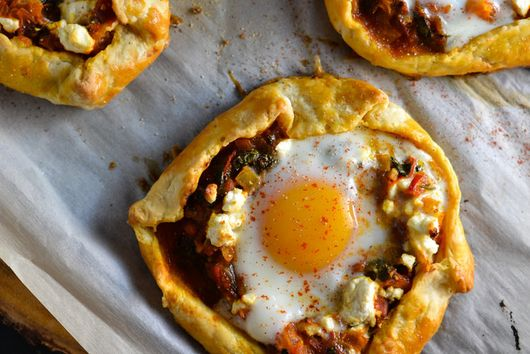 Spicy Tomato, Spinach & Egg Galette