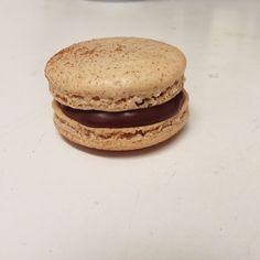 Cinnamon, Fig, and Chocolate Macarons: