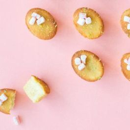 GLUTEN-FREE LEMON AND LIME CAKES WITH ORANGE BLOSSOM SYRUP