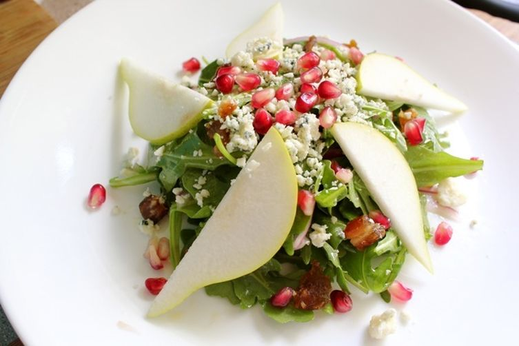 Pomegranate, Pear and Gorgonzola Salad