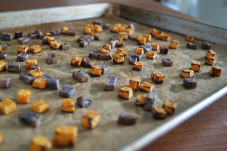 "Crunchy Sweet Potato Fries or ""Croutons"""