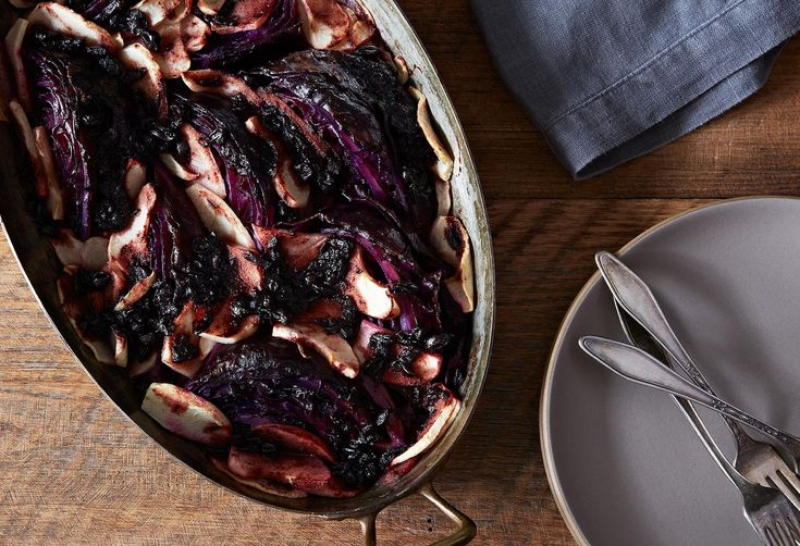 Wintery Braised Red Cabbage with Apples & Red Currant Jelly, for the Kids