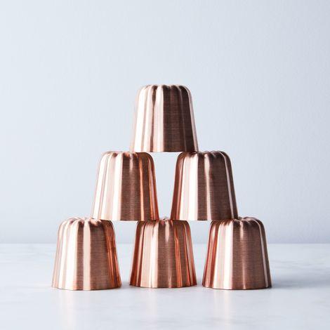 Mauviel Copper Canele Molds (Set of 6)