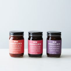 Hibiscus Guajillo, Blackberry Darjeeling & Honey Roo BBQ Finishing Sauces (Set of 3)