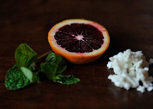 Your Best Dish with Blood Oranges, Feta and Mint
