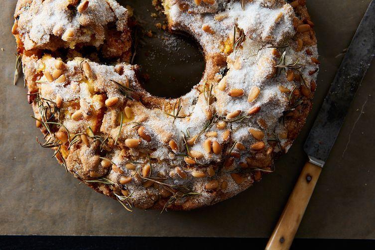 Apple Rosemary Olive Oil Cake