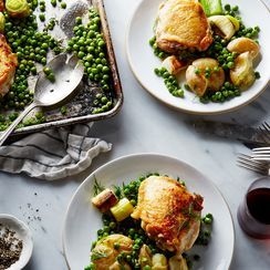 Nigella Lawson's Chicken and Pea Traybake
