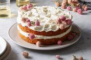 Carrot, Beet, & Parsnip Cake with Honey-Yogurt Frosting