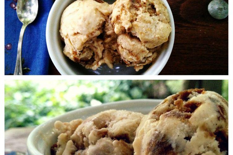Caramelized Apple Molasses Cookie Ice Cream