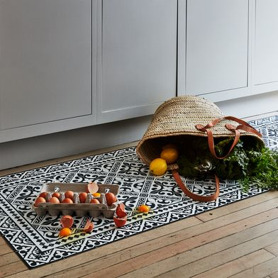 Mediterranean Vinyl Kitchen Runners