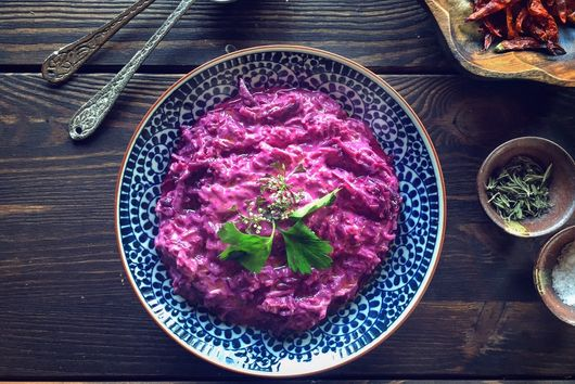 Purple Carrot Meze ( Tarator )