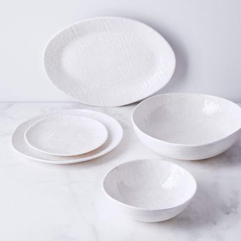 Weave Textured Melamine Dinnerware