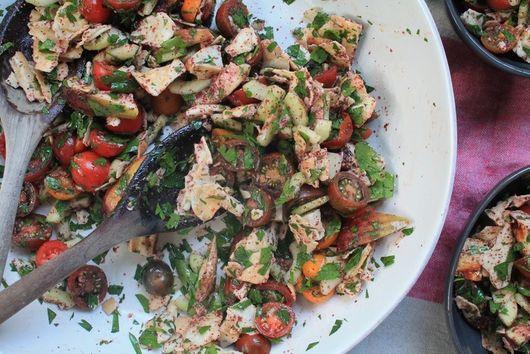 Fattoush Salad w/ Halloumi + Figs