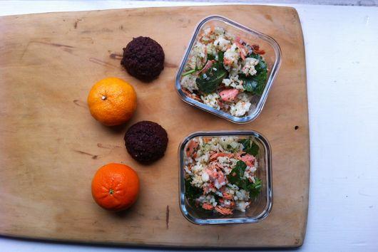 A Roast Salmon and Rice Salad
