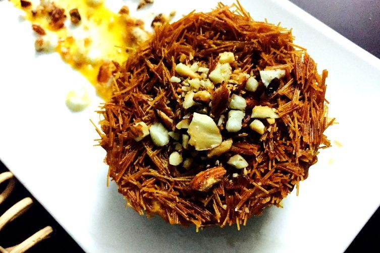 Kunafa With Mango Cream Filling