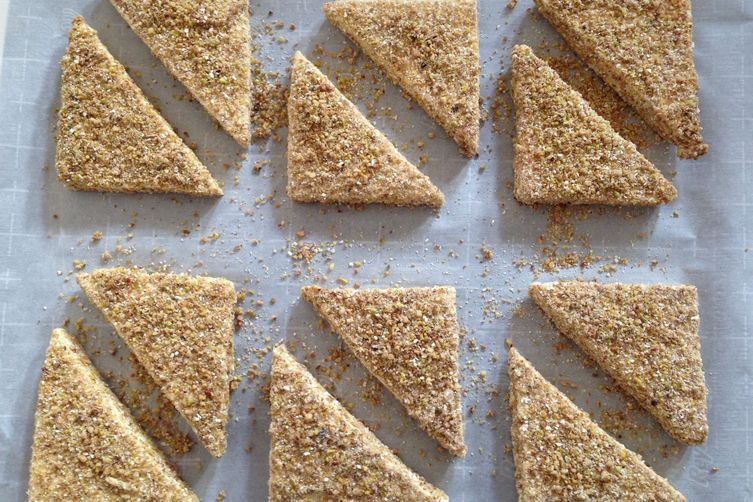 Pistachio- and Pecan-Crusted Tofu