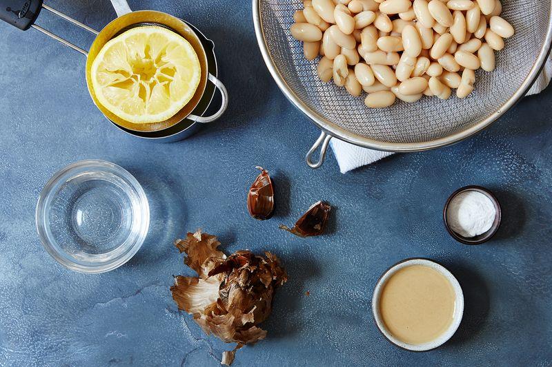 white bean black garlic hummus