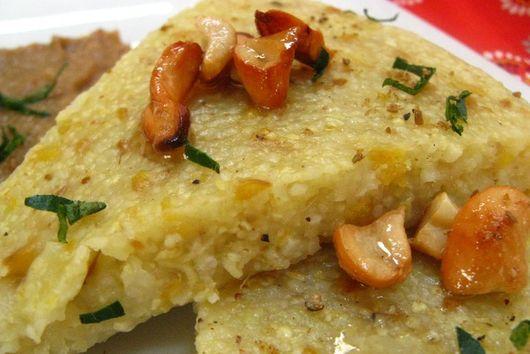 Mung bean & grits polenta