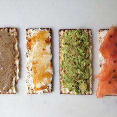 Matzoh Tartines for Passover