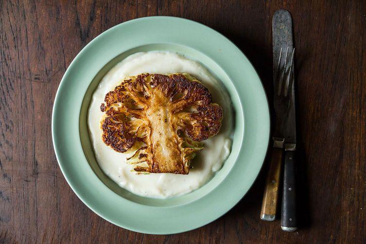 Cauliflower steaks from Food52