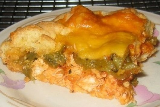 Chile Relleno-Chicken Tart