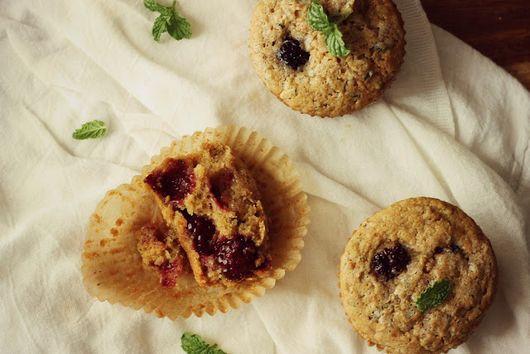 Minty Blackberry & Zucchini Muffins