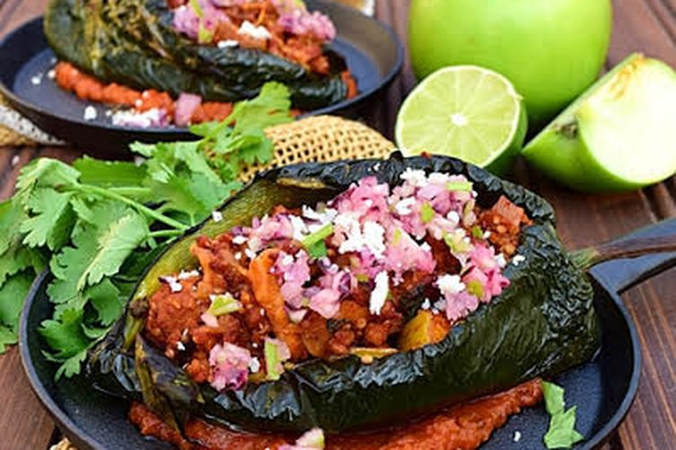 Apple Chorizo Chili Rellenos