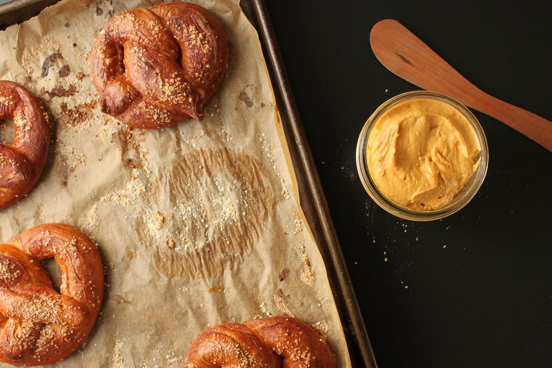 Soft Pretzels with Beer Cheese