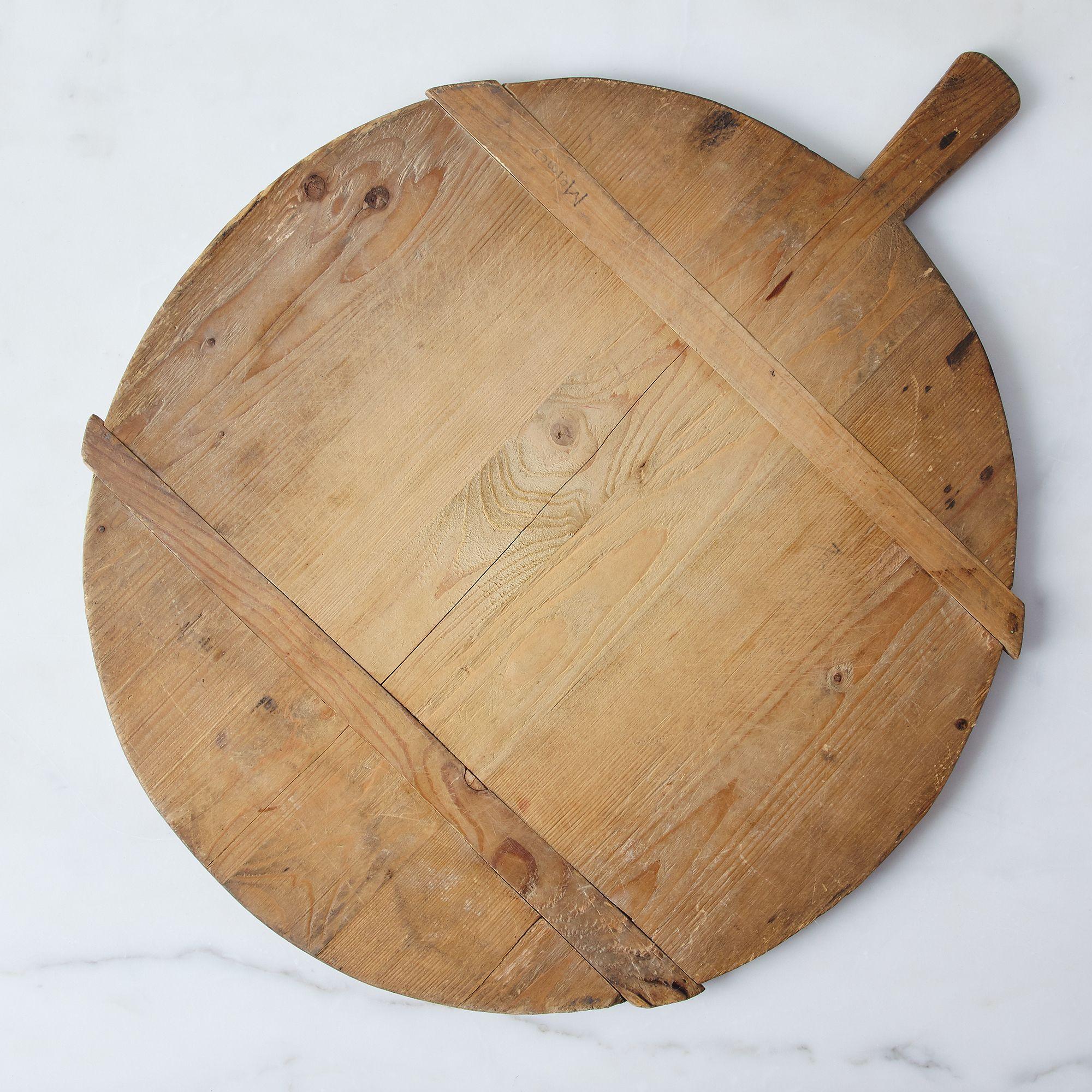 vintage round german bread board on food52