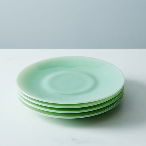 Jadeite Glass Dinner & Cake Plates (Set of 4)